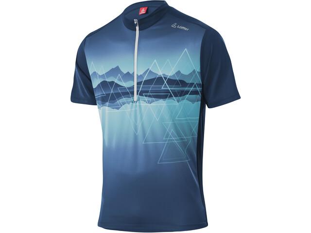 Löffler Peaks Half-Zip Bike Shirt Men deep water